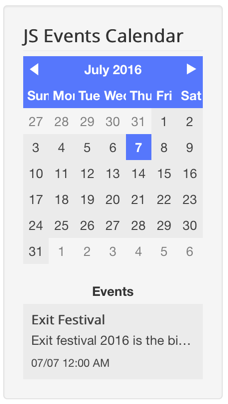 JS Events Calendar - JomSocial Documentation