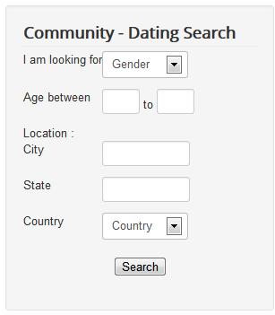 JomSocial dating haku moduuli